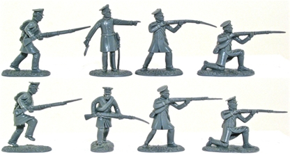 Napoleonic Prussian Landwehr in gray color