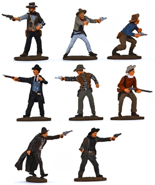 Gunfighters and Cowboys - fully painted