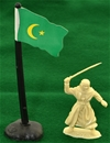 Arab Flag with Flagpole and Base