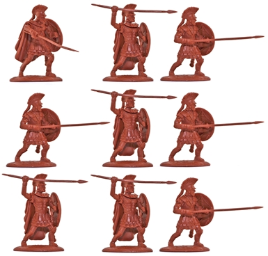 Ancient Greek Spartans - Sacred Band - in red