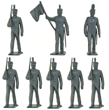 60mm West Point Cadets w Officer and Flag