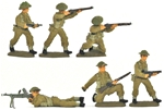 World War II British Infantry - Fully painted