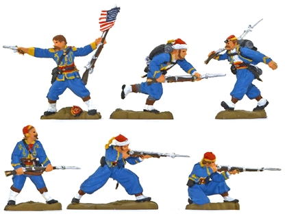 146th NY Zouave Regiment - Fully painted