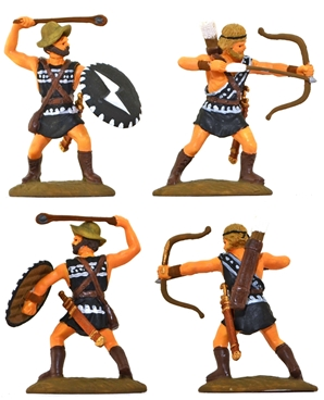 Thespian Archers and Slingers - fully painted