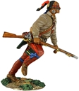 Woodland Indian Running with Musket