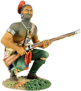 Woodland Indian Squatting with Musket