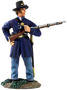 Union Iron Brigade NCO Cradling Musket