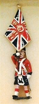 Black Watch Color Bearer with Union Jack