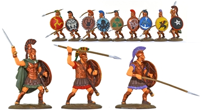 Mixed Hoplites - fully painted