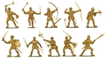 Medieval Men at Arms - gold color
