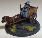 Gandalf the Grey and Cart - metal version