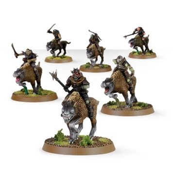 Warg Riders Boxed Set - one fully painted figure
