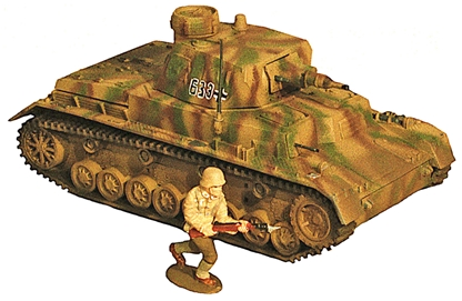 WWII German Panzer IV Tank - Fully painted
