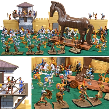 Hand-Painted Trojan War Playset - limited edition