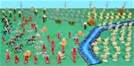 Deluxe Rome vs. Carthage Playset -- Free Shipping