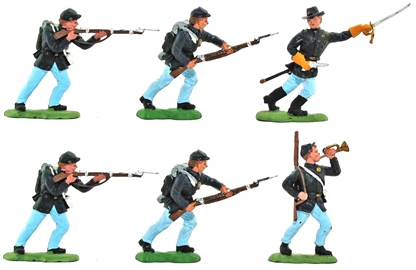 Recast Herald Union Infantry - fully painted