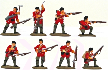 British Light Infantry 1754-1763 - Fully painted