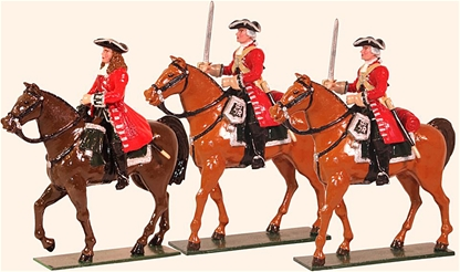 Marlborough Officer and Troopers - Mounted