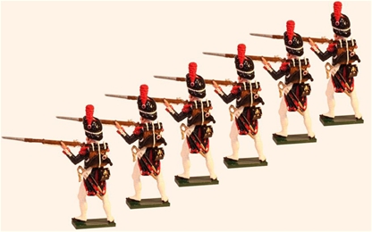French Grenadiers of the Guard Standing Firing