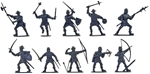 Medieval Men at Arms - 10 in 5 poses gray color