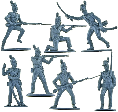 British Infantry 1815 - 14 in 7 poses - no box