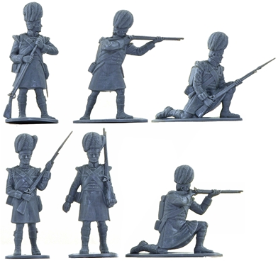 Highland Infantry - 1815- 14 in 6 poses