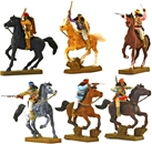 Mounted Apache Indians - fully painted