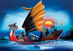 Dragon Battle Ship with Ninja Crew