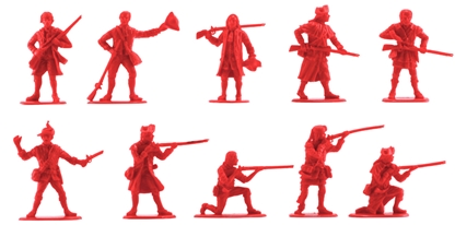 1776 Militia Set #1 10 in red color very low stock