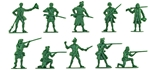 1776 Militia #1 - 10 in green - low stock!