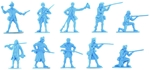 U.S. Militia - 1776 Set #1 - sky blue color