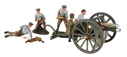 1914 British RHA 13 Pound Gun and Crew