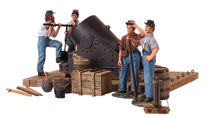 Civil War 13-inch Mortar and Crew