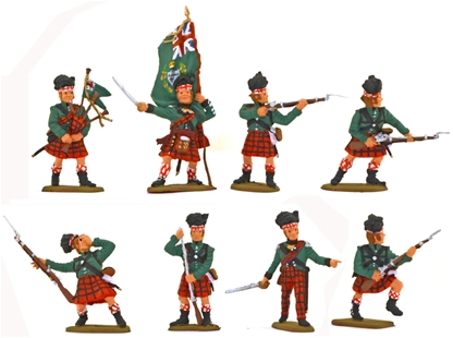 Queen's Rangers Highlander Company - Fully painted