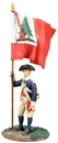 Colonial Militia Flagbearer #1 Bunker Hill Colours