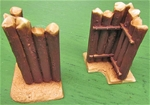 Hand Painted Stockade Wall Corners