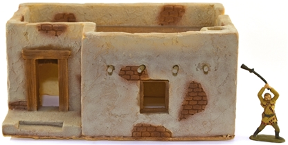 L-Shaped Adobe Building - Fully painted