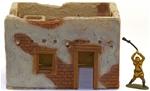 Rectangular Adobe Building - fully painted