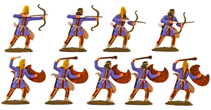 Ancient Persian Archers & Slingers - fully painted