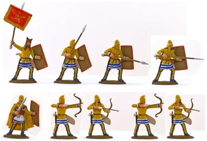 Ancient Persian Medium Infantry - fully painted