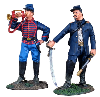 Union Artillery Command #1 - Officer and Bugler