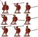Ancient Greek Hoplites in red color