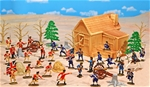 Deluxe Painted American Revolution Playset - SALE!