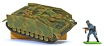 WWII German Stug IV w Side Armor - fully painted