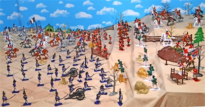 Deluxe Painted Napoleonic Battle Playset