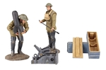 1917-18 U.S. Mortar Crew with Mortar - PRE-ORDER