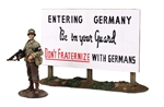 US Military Policeman and Sign 1944 PRE-ORDER