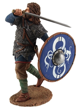 Viking in Chain Mail Shirt, Defending