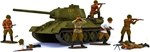 WWII Russian Painted Infantry and T-34 Bundle