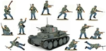 WWII German Painted Paratroops and Tank Bundle